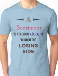 Sherlock Holmes sentiment quote [colored] Unisex T-Shirt