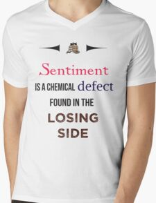 Sherlock Holmes sentiment quote [colored] Mens V-Neck T-Shirt