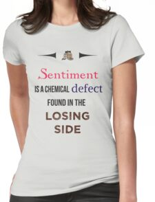 Sherlock Holmes sentiment quote [colored] Womens Fitted T-Shirt