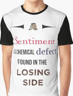 Sherlock Holmes sentiment quote [colored] Graphic T-Shirt