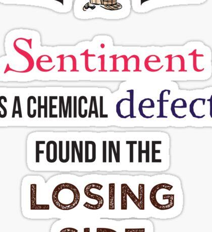 Sherlock Holmes sentiment quote [colored] Sticker