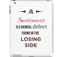 Sherlock Holmes sentiment quote [colored] iPad Case/Skin