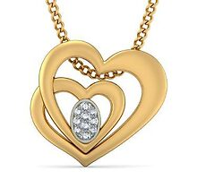 Diamond Heart Shaped Pendant by sudomark3