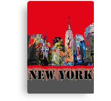 New York City in Graffiti Canvas Print