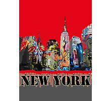 New York City in Graffiti Photographic Print