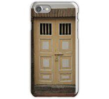Yellow and White Wood Door iPhone Case/Skin