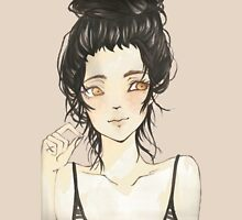 Beauty and dark hair - Manga T-Shirt
