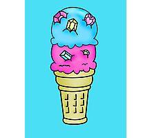 Bejeweled Ice Cream Cone Photographic Print