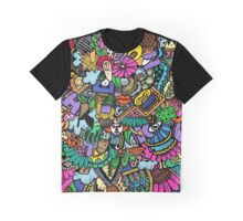 Colorful world Doodle  Graphic T-Shirt