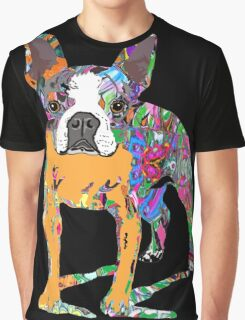 Boston Terrier Graffiti Graphic T-Shirt