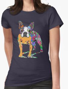 Boston Terrier Graffiti Womens Fitted T-Shirt