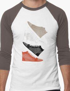 Louboutin mens sneakers in colors Men's Baseball ¾ T-Shirt