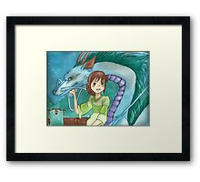 Dragons and Magic - Manga Framed Print