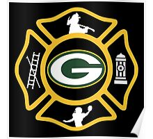 Green Bay Fire - Packers Style Poster