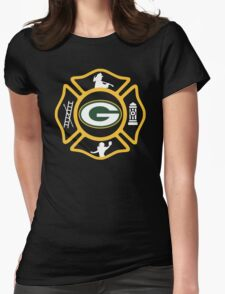 Green Bay Fire - Packers Style Womens Fitted T-Shirt