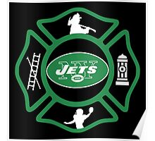 FDNY - Jets Style Poster
