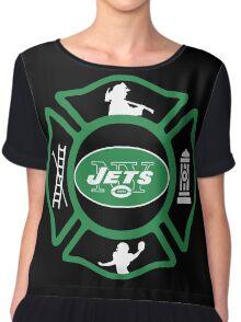 FDNY - Jets Style Chiffon Top