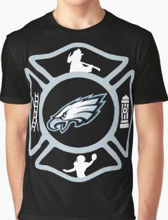 Philadelphia Fire - Eagles Style Graphic T-Shirt