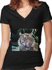 Boy you look good Women's Fitted V-Neck T-Shirt