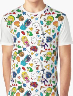 Cute Legend of Zelda pattern!!! Graphic T-Shirt