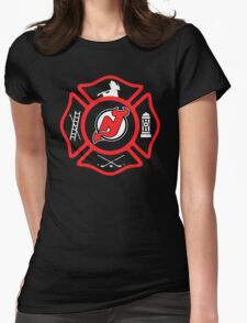 Newark Fire - Devils Style Womens Fitted T-Shirt