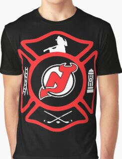 Newark Fire - Devils Style Graphic T-Shirt