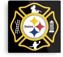 Pittsburgh Fire - Steelers Style Metal Print