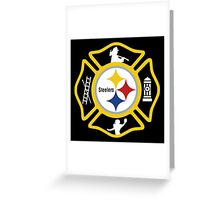 Pittsburgh Fire - Steelers Style Greeting Card