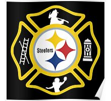 Pittsburgh Fire - Steelers Style Poster