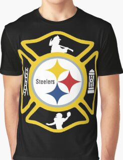 Pittsburgh Fire - Steelers Style Graphic T-Shirt