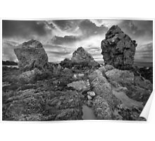 Rock formation - Bermagui NSW Poster