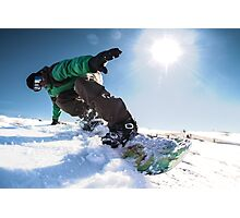 Snowboard freerider in the mountains Photographic Print