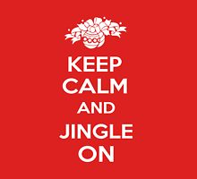 Keep Calm and Jingle On Womens Fitted T-Shirt