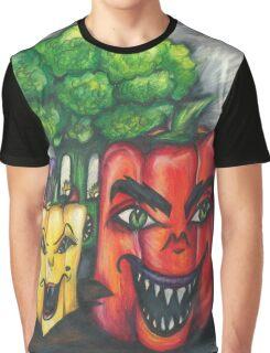 Evil Veggies Plan World Domination Graphic T-Shirt