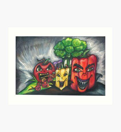 Evil Veggies Plan World Domination Art Print