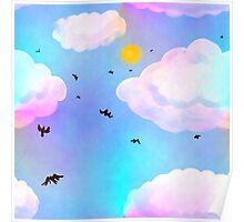 Dreamclouds Seamless Pattern Poster