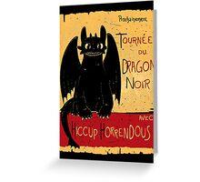 Le Dragon Noir Greeting Card
