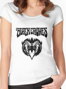 the black crowes logo white 2016 Women's Fitted Scoop T-Shirt