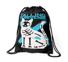 Falling In Reverse Skeleton Cat Drawstring Bag