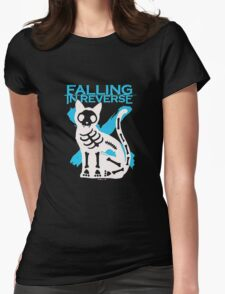 Falling In Reverse Skeleton Cat Womens Fitted T-Shirt
