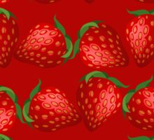 Strawberries and More Strawberries Sticker