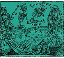 Totentanz / Dance of macabre - green Photographic Print