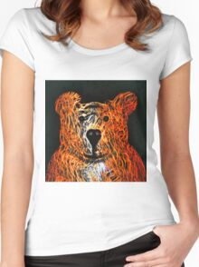 Honey Bear Large Women's Fitted Scoop T-Shirt