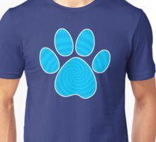 Dog Paw Print, Blue Spiral Unisex T-Shirt