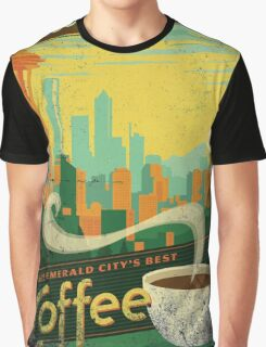 Seattle Supreme Coffee Graphic T-Shirt