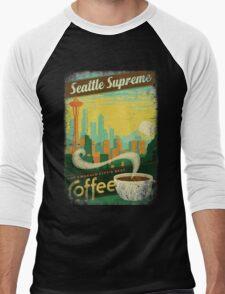 Seattle Supreme Coffee Men's Baseball ¾ T-Shirt