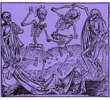 Totentanz / Dance of macabre - violet Photographic Print