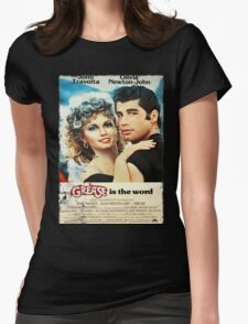 Grease Is The Word Poster Womens Fitted T-Shirt