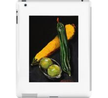 Green and yellow marrows with apples iPad Case/Skin
