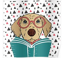 Reading Dog Poster